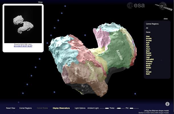 View Rosetta's comet