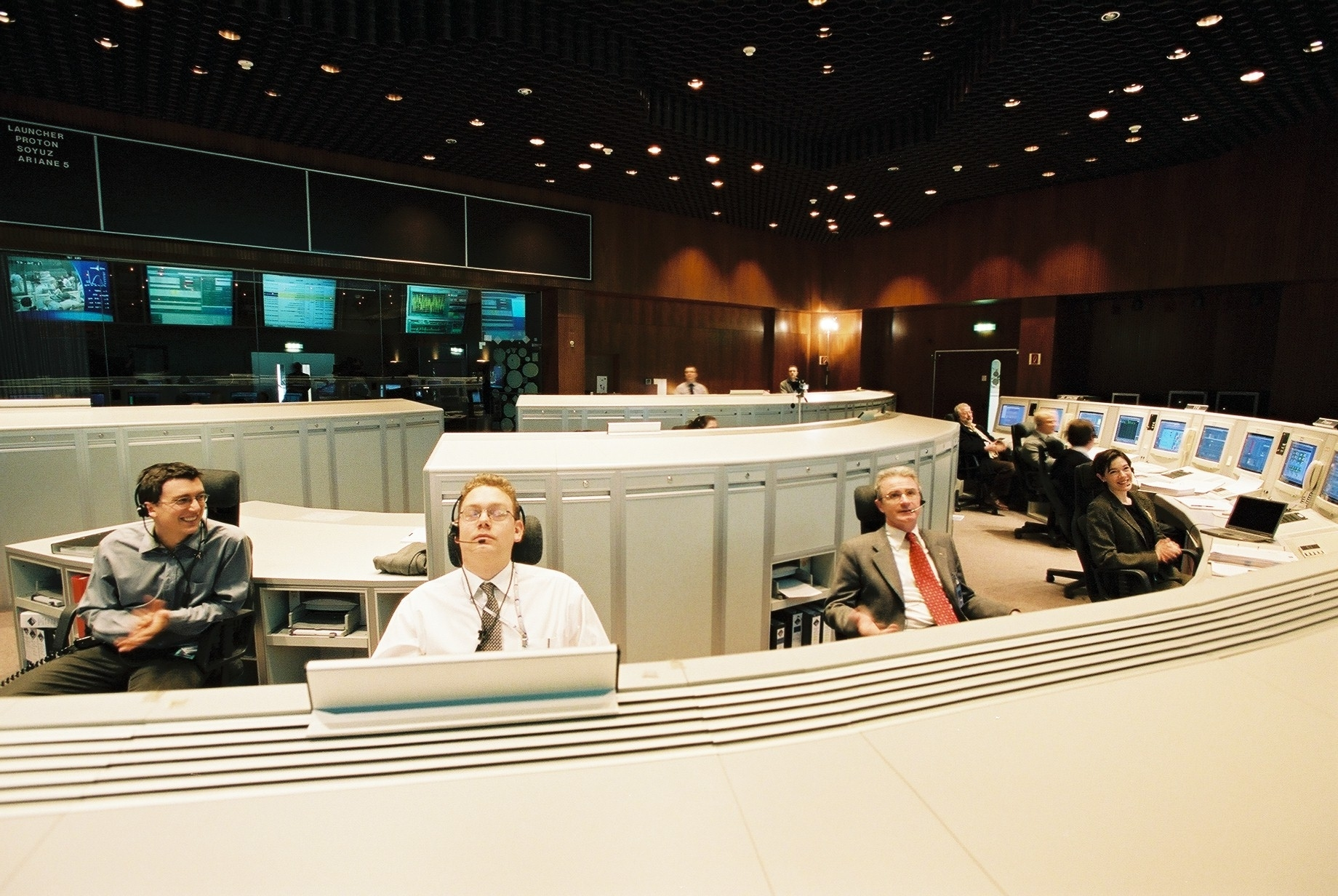 ESA Science & Technology: Main Control Room at ESOC