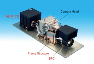 The High Resolution Stereo Camera. Image courtesy of and © 2003 Deutschen Zentrum für Luft- und Raumfahrt (DLR) / Freie Universität Berlin