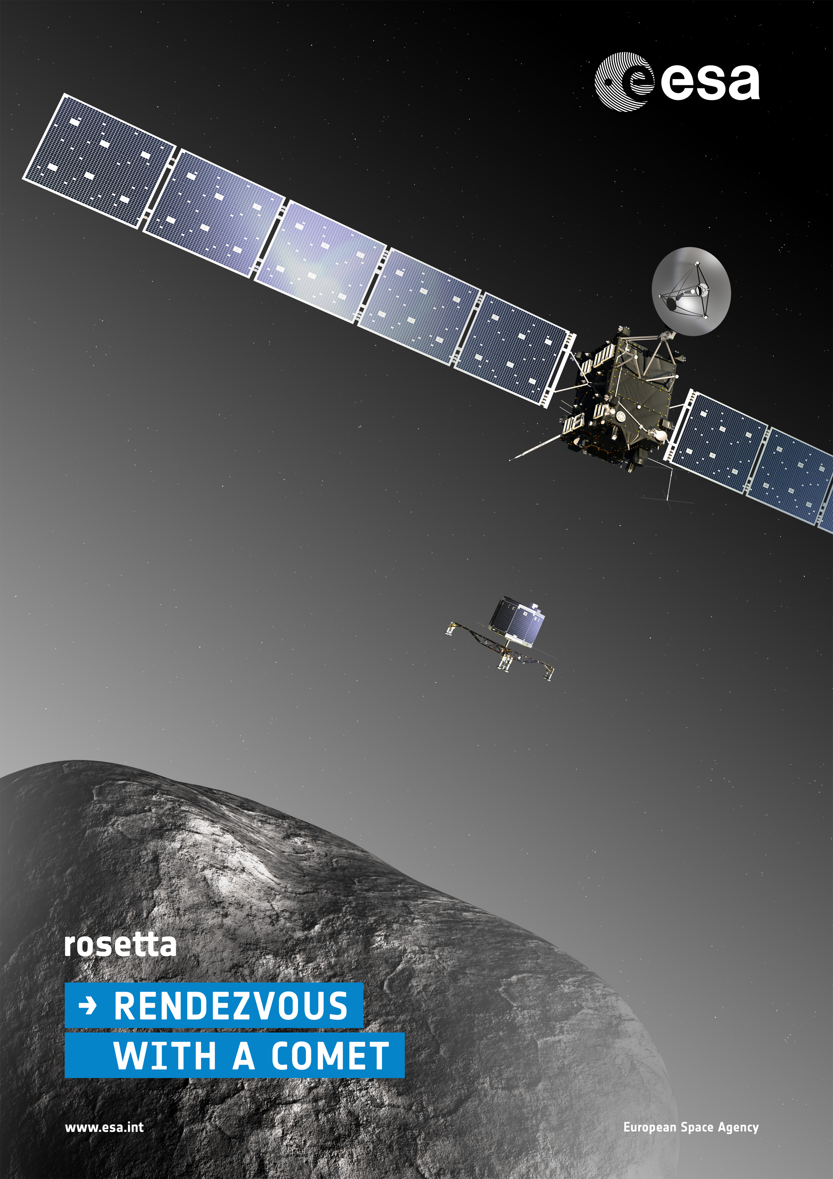 ESA Science & Technology: Rosetta mission poster