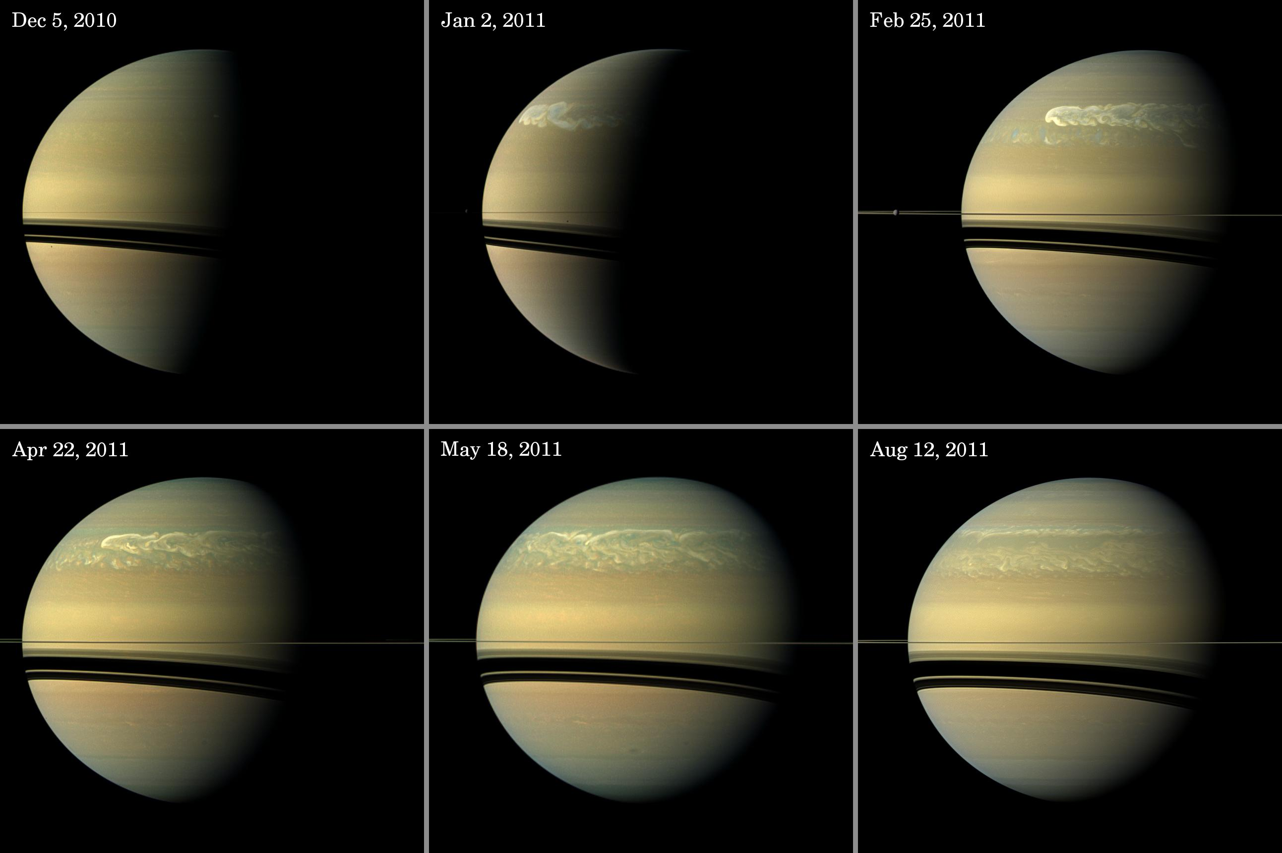 ESA Science & Technology: Saturn's giant storm reveals the