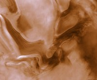 MGS image of Martian layered terrain.