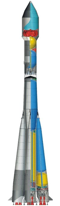 Cutaway diagram of Soyuz-Fregat launch vehicle (image courtesy of Starsem)