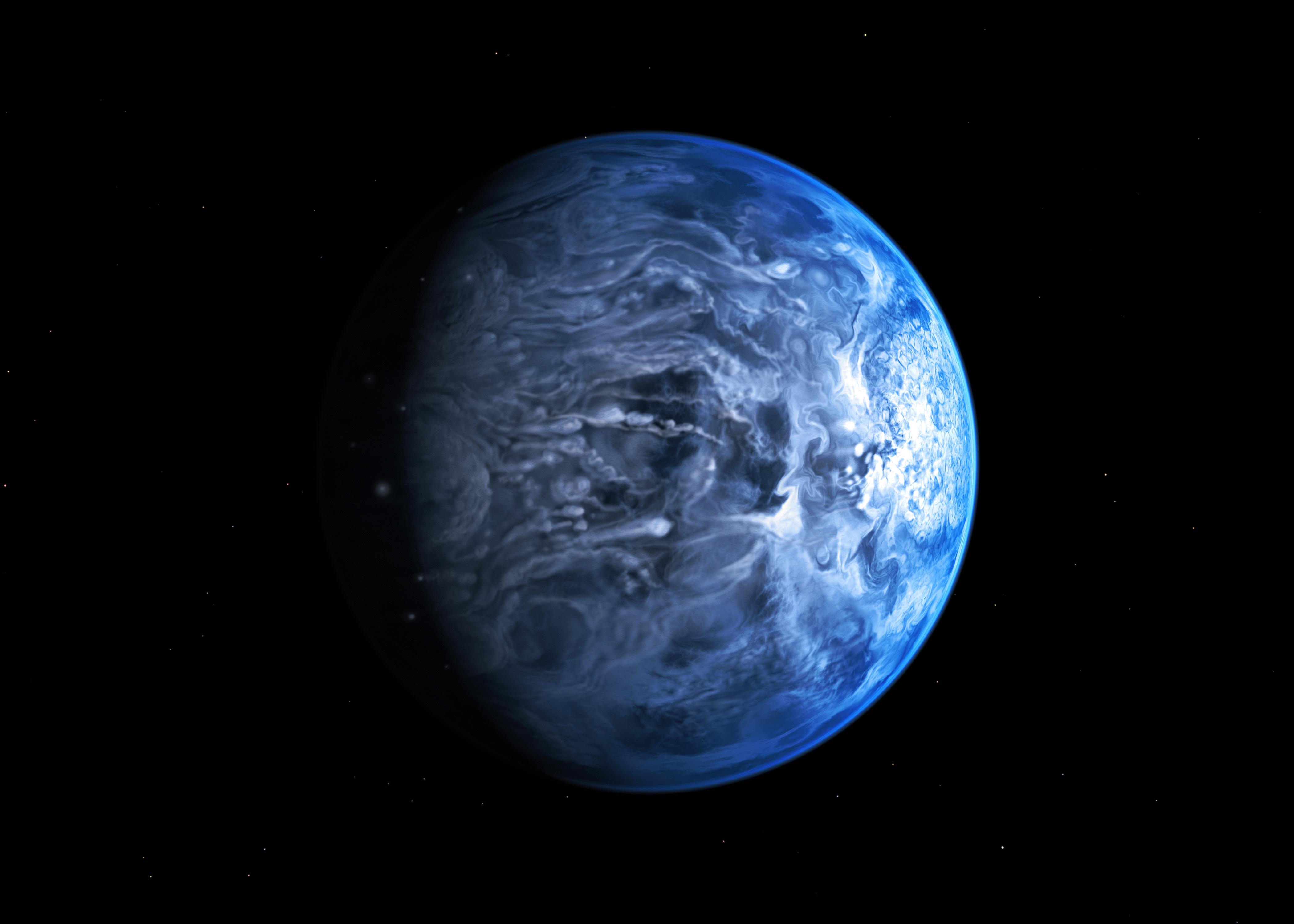 ESA Science & Technology: Hubble spots azure blue planet