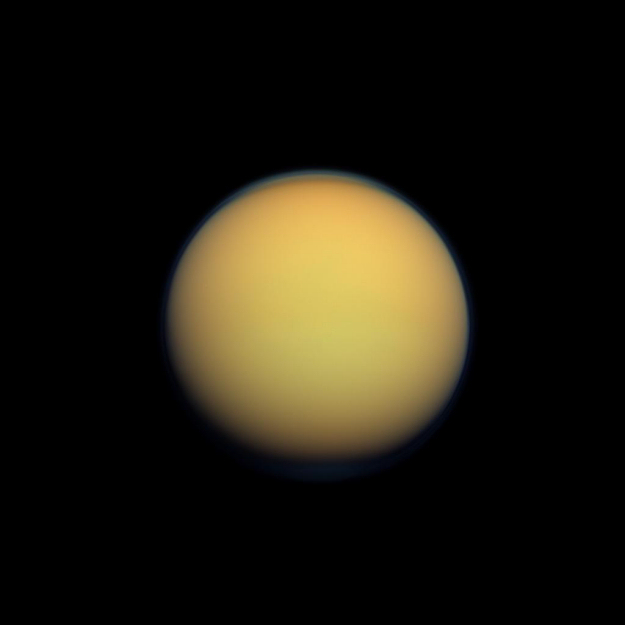 Titan moon of Saturn  The Solar System on Sea and Sky