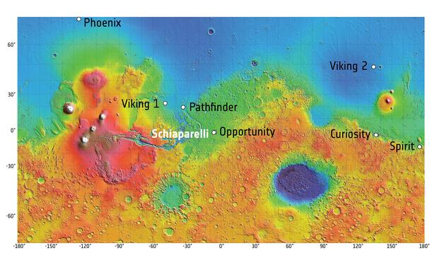 Lancement Proton-M / ExoMars 2016 - 14 mars 2016 - Page 6 ExoMars2016_Mars_map_landing_sites_20160224_625