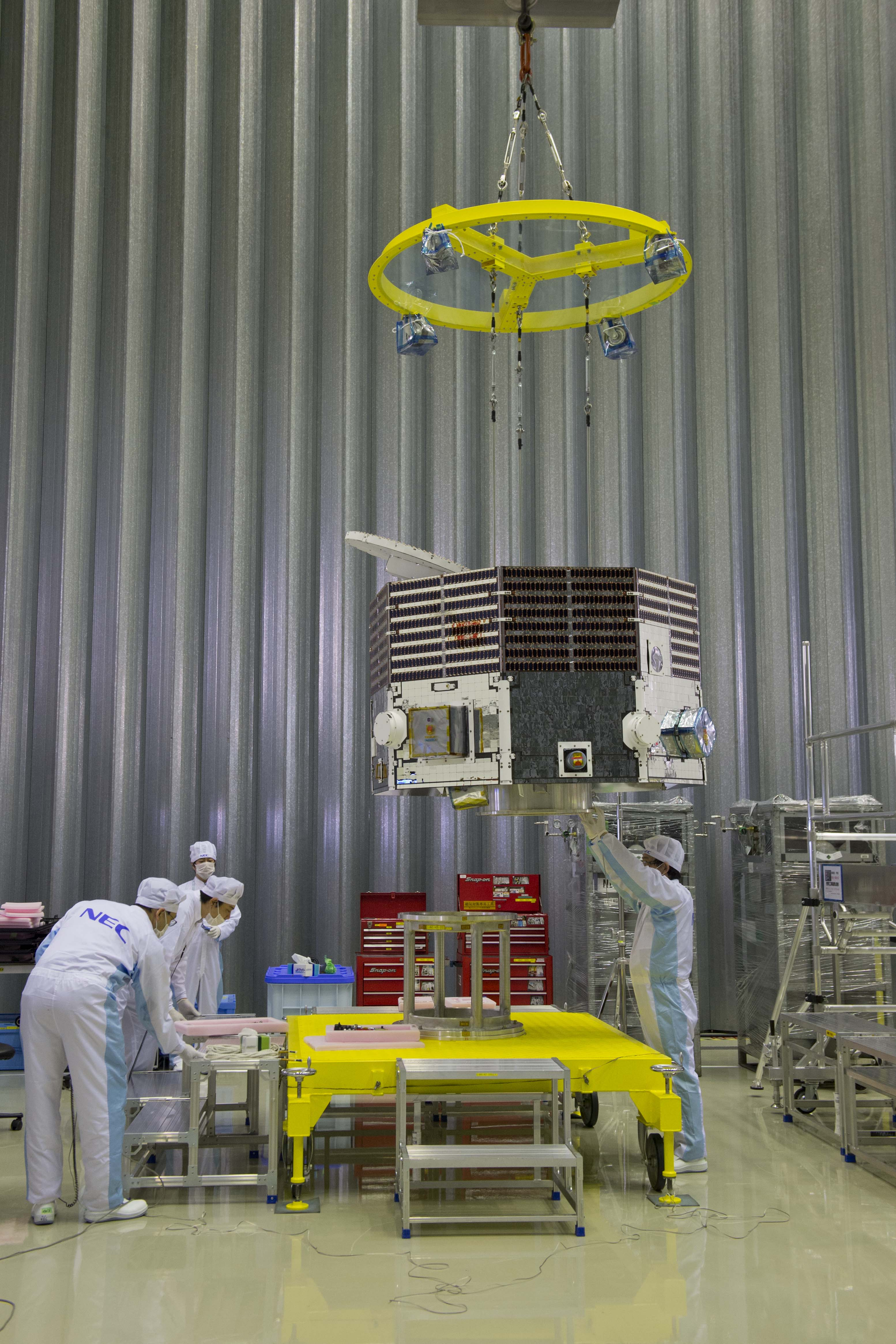 ESA Science & Technology: The BepiColombo MMO being moved ...