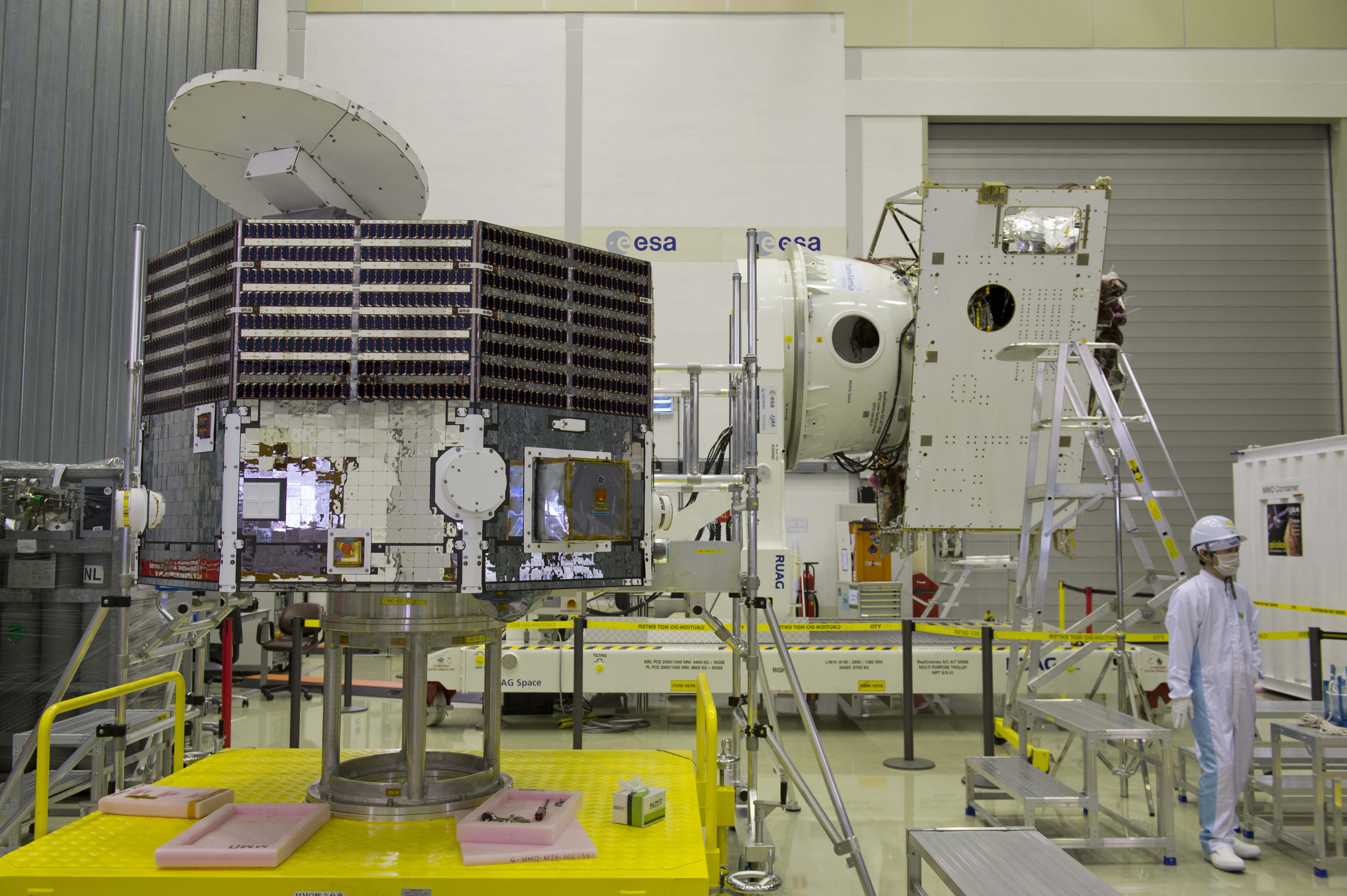 ESA Science & Technology: The BepiColombo MMO mounted on ...