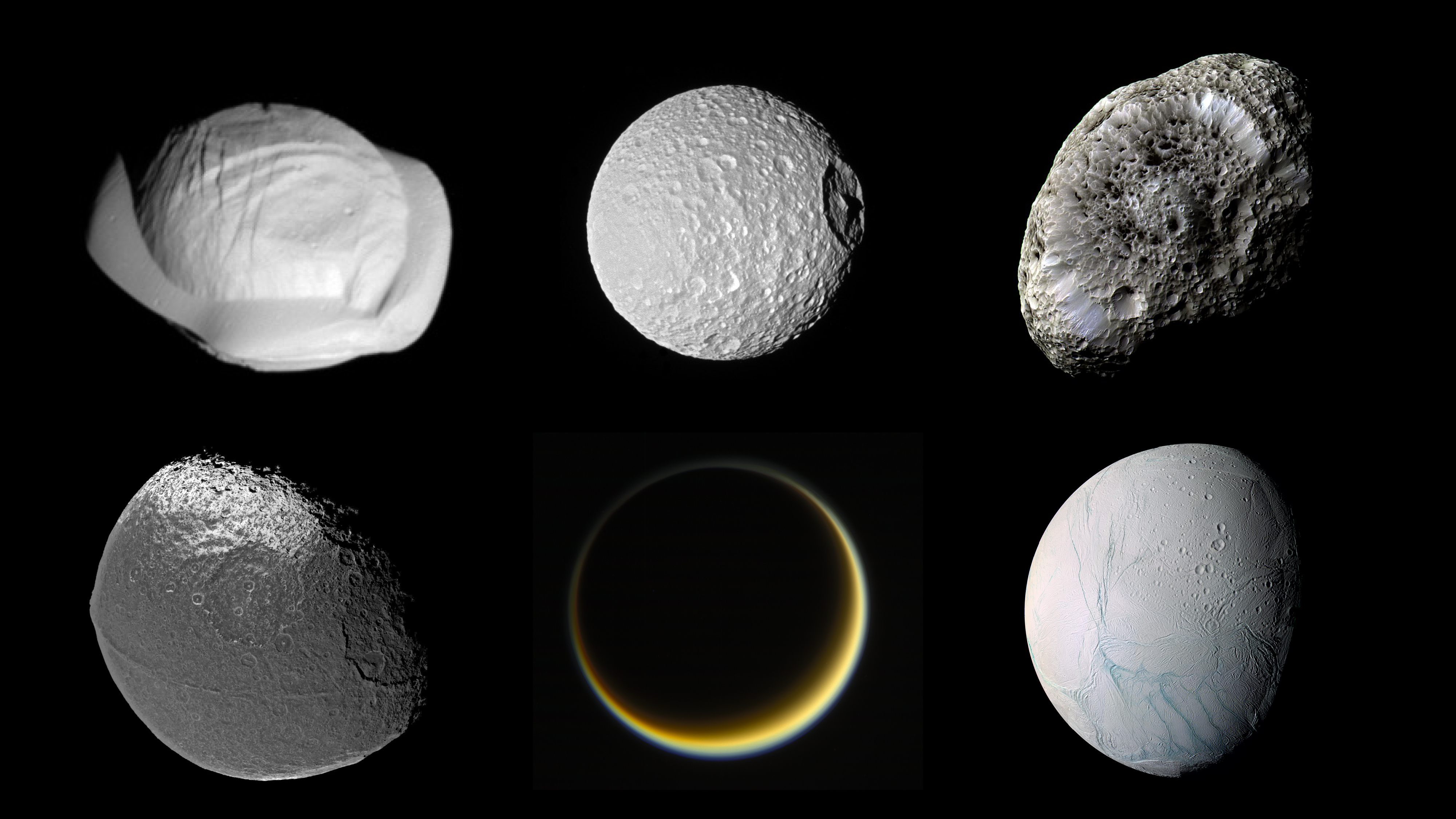 ESA Science & Technology: Saturn's moon zoo