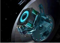 Artist's impression of SMART-1's ion engine in operation.