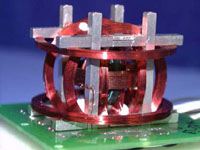Triaxial fluxgate magnetometer assembly