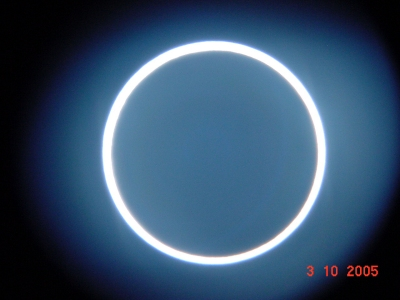 ESA Science & Technology: Annular Eclipse 2005