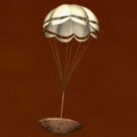 Fact Sheet: Artists impression of the Huygens probe descending under parachute