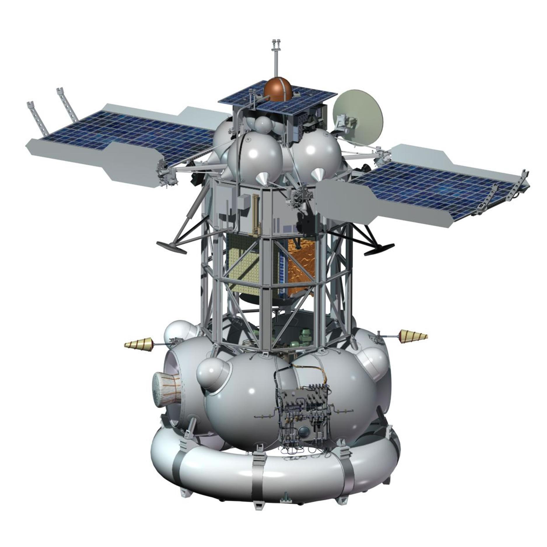 Esa Science Technology Phobos Soil Phobos Grunt Spacecraft Design
