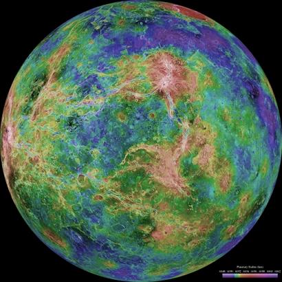ESA Science & Technology: Radar map of Venus' surface on