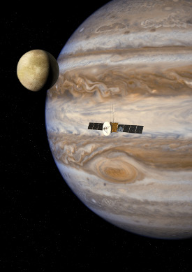 Artist's impression of the JUICE mission. Credit: ESA/AOES