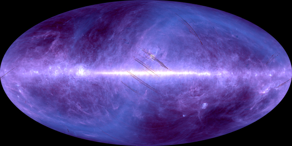 AKARI all-sky image: 90 and 140 micrometres. Credit: JAXA