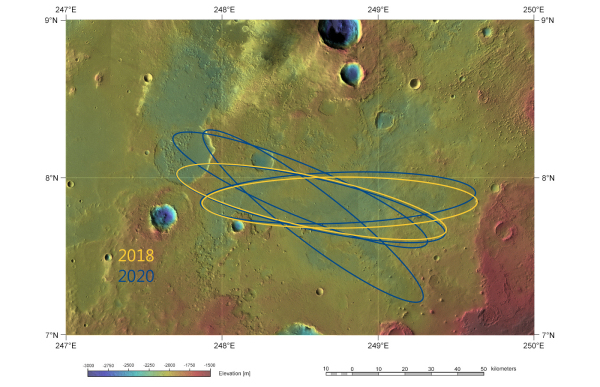 Esa Robotic Exploration Of Mars Aram Dorsum