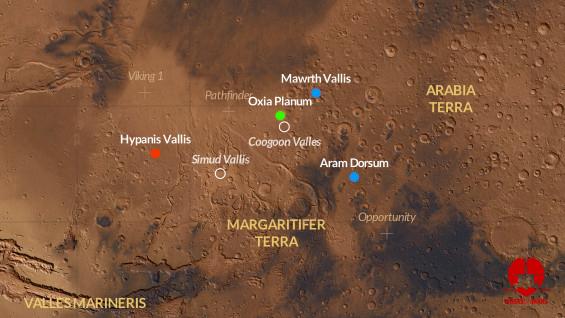 ExoMars landing sites to narrow to final two