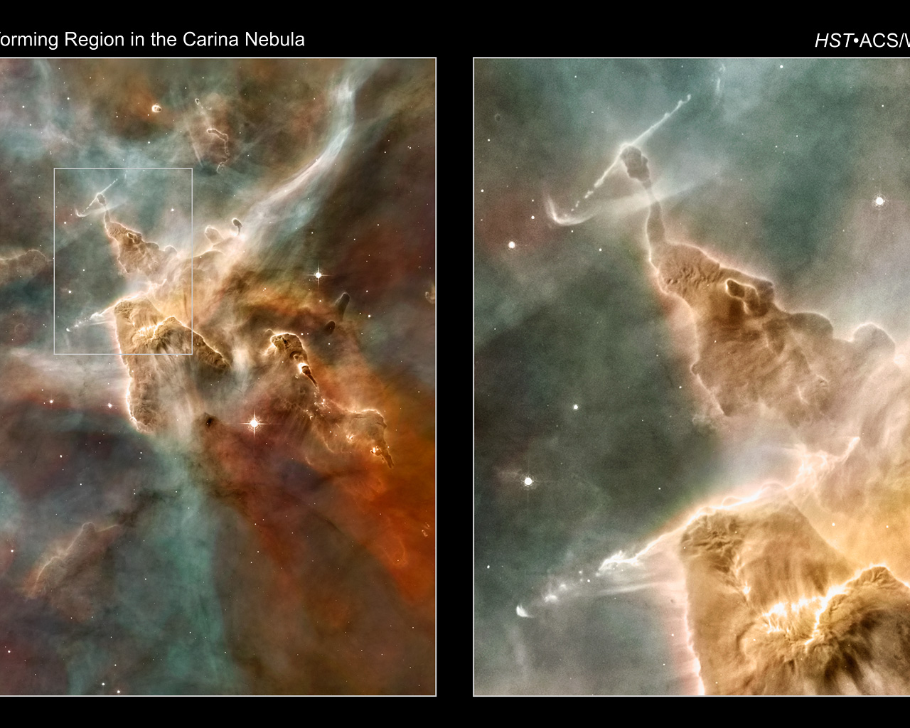 esa science & technology: star-forming regions in the carina nebula