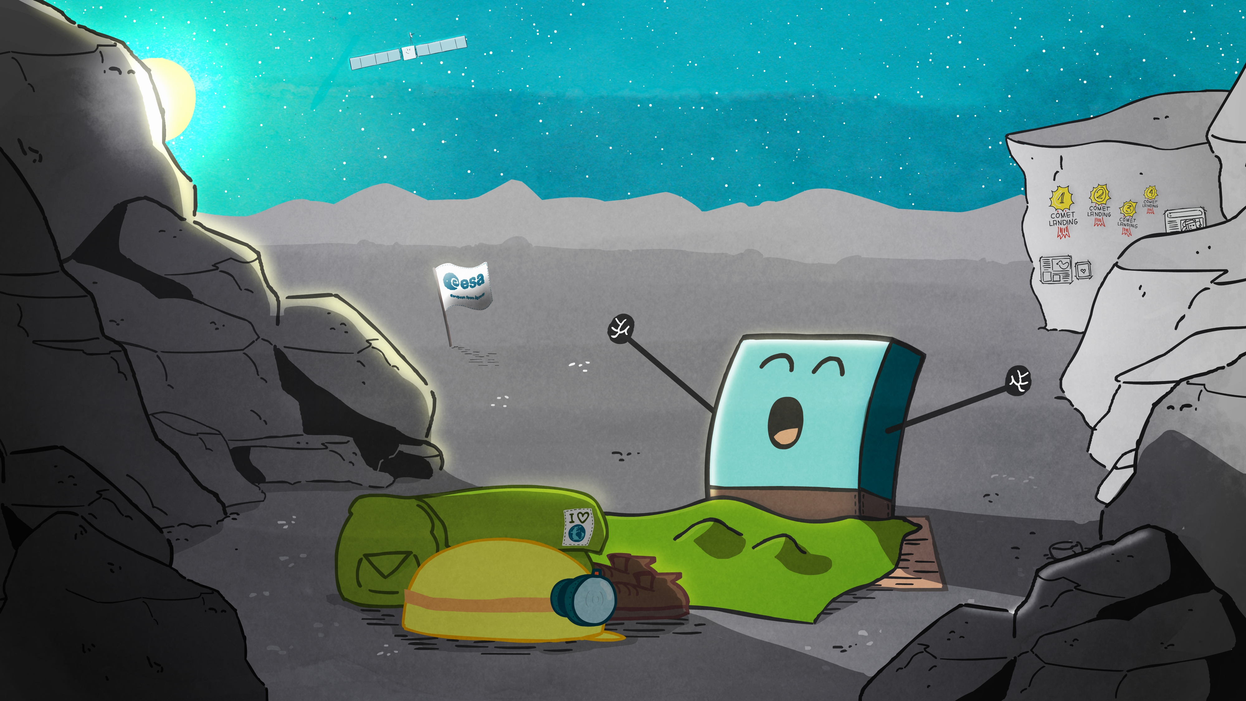 Clip Art Calendar Of Events : Esa science technology philae wakes up