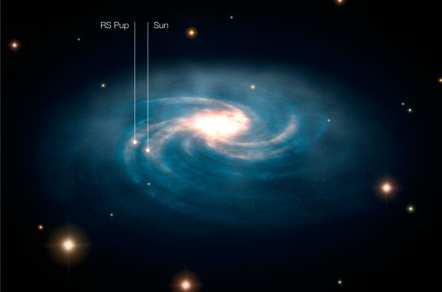 ESA Science & Technology: The location of RS Puppis within ...