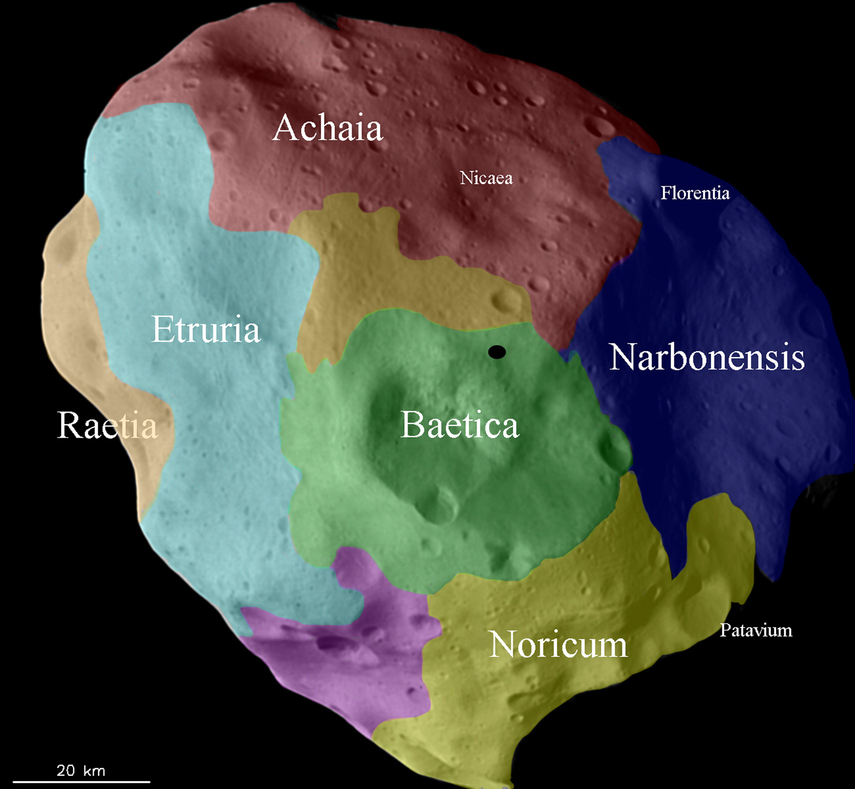 ESA Science & Technology: The history of different regions ...