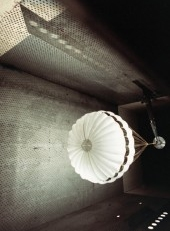 Test of pilot parachute in a supersonic wind tunnel. Image © 1995 Martin-Baker Aircraft Company.